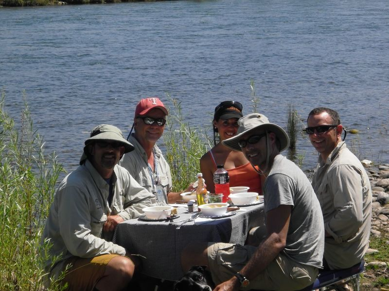 Lunch on the Lower Sacramento River