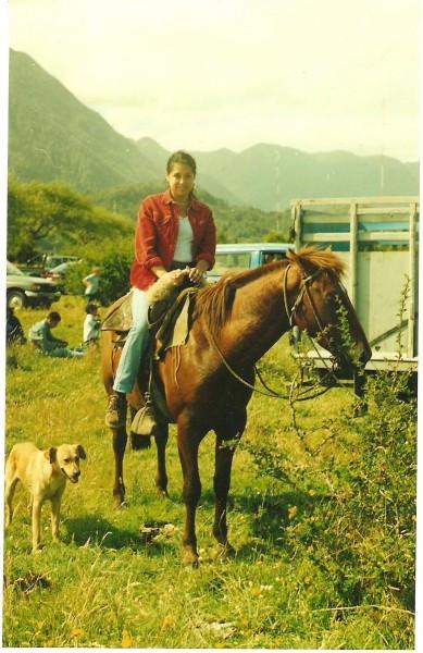 carola on horse