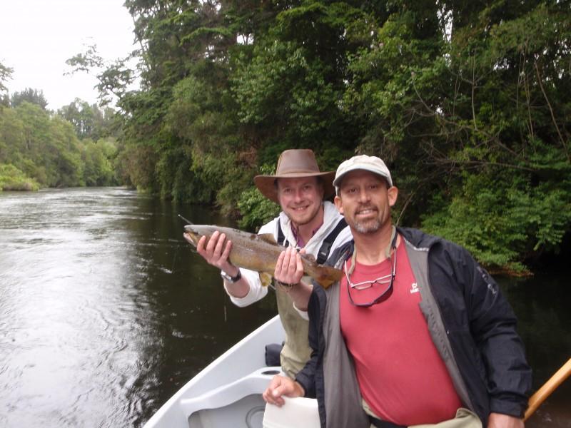 Jack trout & client Rio Maullin Chile