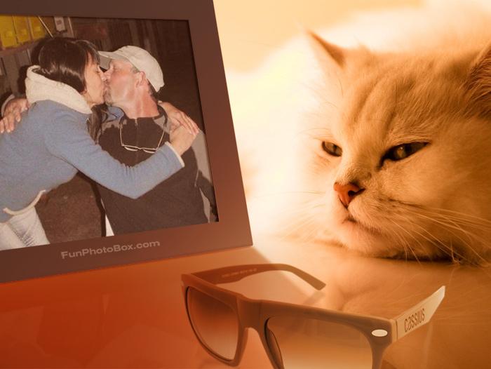 jack & Carola cat kissing