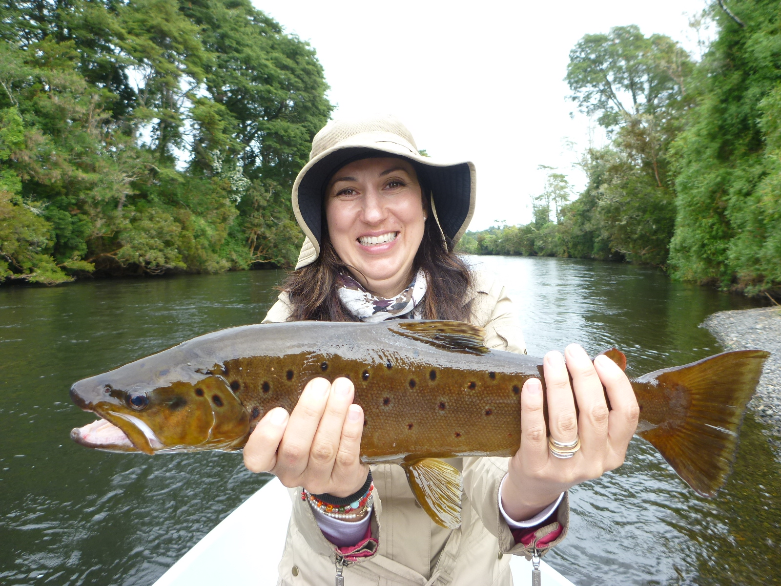 Jack trout fly fishing puerto montt chile