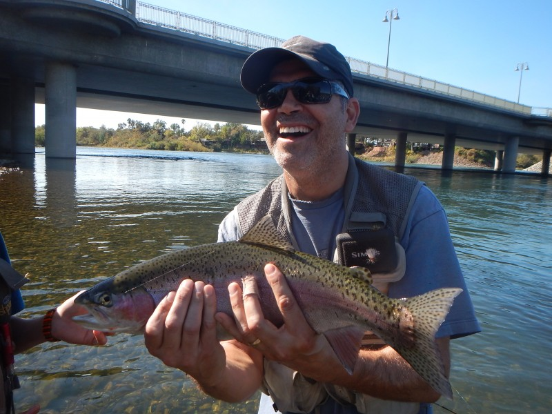 Klamath river steelhead by Jack Trout