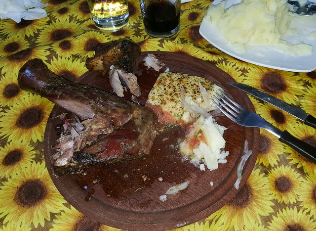 The best lamb I had on the trip, cooked by Jack Trout