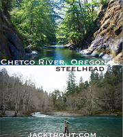 Fly fishing Chetco Oregon