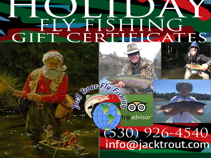 Fly fishing gift certificates for holidays